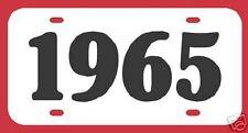 1965 FORD MUSTANG FAIRLANE GALAXIE THUNDERBIRD LICENSE