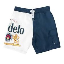 Modelo Bottle Label Men's Board Shorts Blue