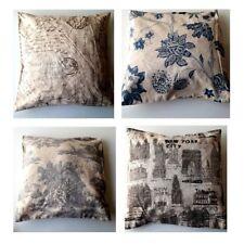 "Vintage Retro Design Cotton Linen Cushion Covers Sofa Bed Chair Home Decor 18"""