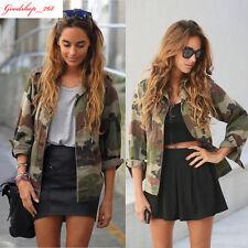 Fashion Camouflage Women Jacket Coat Autumn Winter Street Overcoat Casual Blazer