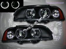 97-03 BMW 5-SERIES E39 PROJECTOR HEADLIGHTS TWO HALO BLACK 4 DOOR