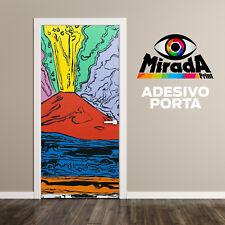 PORTA ADESIVA  WALL STICKER Andy Warhol Vesuvius Napoli Vesuvio ARTE DESIGN