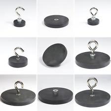 Neodym Magnet Topfmagnet Magnethaken Ösenmagnet Gummiert Gewinde 5KG bis 42Kg