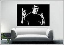 Wandtattoo wandaufkleber wandsticker photo  Porträt Bruce Lee Kongfu wph23