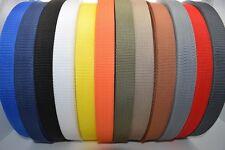 50m Polypropylene Webbing Strap / Tape 15,20,25,30,40,50mm Choice of Colours