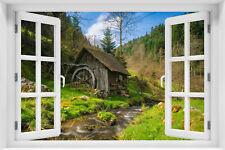 3D Wandillusion Wandbild FOTOTAPETE Poster Fensterblick Landschaft Natur  kr-36