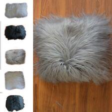 Islandese pelle di Pecora Cuscini Genuino Bianco, Nera, Grigio Mongola Natura