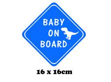 Baby on Board Car Decal / Vinyl Sticker. Baby on Board with Dinosaur Car Window