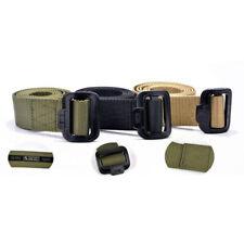 Men Nylon Fabric Flexible Tactical Belt Accessories Front Buckle Waist Support