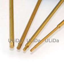 Titanium Nitride TiNi Hex ScrewDriver 1.5mm 2 2.5 3 Tip Replacement Shaft Steel