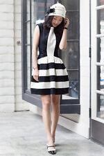 Anthropologie Strata Dress Black White Fit & Flare By Eva Franco Size 14 NEW