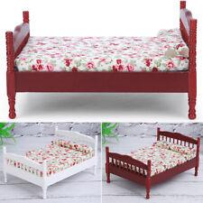Children Wooden Doll House Furniture Sets Bedroom Bed Living Room Gift Toy