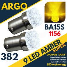 Brillante ámbar amarillo 9 LED 382 P21/5w 1156 Bombillas Indicador de Señal de Vuelta Ba15s 12 V
