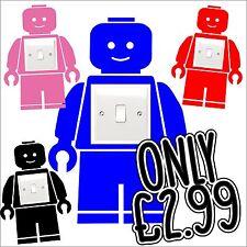 Lego Hombre Interruptor De Luz pegatina Childrens bedroom niños pared arte, películas, Divertido Nuevo