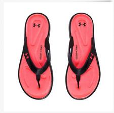 Under Armour Girl's Marbella V Flip-Flop Sandals Black/ Pink Ridge  1266522