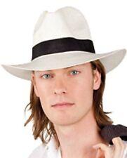 Chapeau Blanc STANLEY Déguisement Adulte Homme Costume Mafia Gangster Borsalino