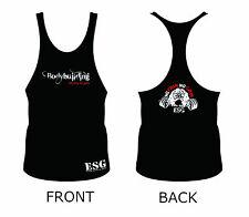 Premium Quality ESG Body Building Vest - No Pain No Gain - Thin Back - Bull Dog