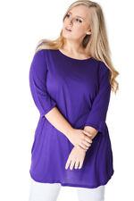 P36 - FEMMES / GRANDE TAILLE pour violet décontracté clair tunique haut t -shirt