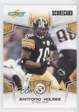 2008 Score Scorecard #252 Santonio Holmes Pittsburgh Steelers Football Card
