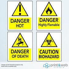 Pericolo/Avvertenza Adesivi da parete per uso ufficio e casa