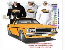 77-80 HZ SANDMAN HOLDEN UTE HOODIE ILLUSTRATED CLASSIC RETRO MUSCLE SPORTS CAR