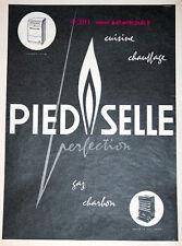 PUBLICITE DE 1960 PIED SELLE CUISINE CHAUFFAGE CHARBON GAZ  COOCKING AD ADVERT