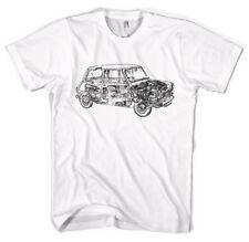 Mini Cooper Schematic Classic Cars Unisex T-Shirt All Sizes