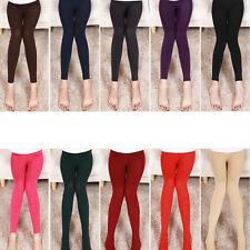 Women Long Trouser Fashion Girls Cotton Legging Skinny Winter Warm Thick Slim