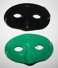 Flocked Plastic Domino Eyemask with Felt Black or Green