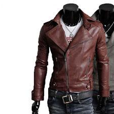 Giacca Giubbotto in Pelle Uomo Men Leather Jacket Veste Blouson Homme Cuir N7u