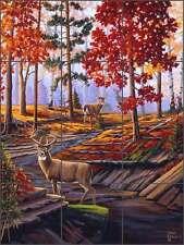 Ceramic Tile Mural Kitchen Backsplash Kendrick Deer Lodge Art POV-LKA027