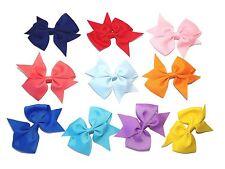 Handmade Large Kids Toddler Girls' Glitter Bow Hair Clips
