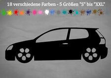 Aufkleber Vw Golf 5 Silhouette Gti R32 Decal Sticker Autokleber 18 Color S-XXL
