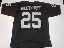 UNSIGNED CUSTOM Sewn Stitched Fred Biletnikoff Black Jersey - M, L, XL, 2XL