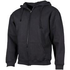 Kapuzenjacke schwarz S-4XL, Hoodie Sweatjacke mit Kapuze Kapuzenpulli Sweatshirt