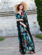9e4d0557bc11ca1 Женские Чехии с цветочным принтом, с V-образным вырезом ретро лето пляж  макси платье блузки шик