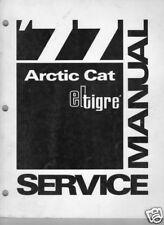 1977  ARCTIC CAT ELTIGRE  SNOWMOBILE  SERVICE  MANUAL