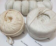 1-4 mm naturel en coton beige Twisted corde Corde À faire soi-même Craft Macrame Corde String