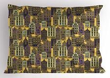 City Pillow Sham Decorative Pillowcase 3 Sizes Bedroom Decor Ambesonne