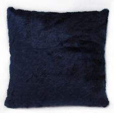 Fm850a Navy Blue Plain Thick Faux Fur Cushion Cover/Pillow Case Custom Size