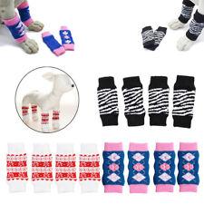 Fanshion 4 Pcs Breathable Doggie Puppy Cotton Anti-Slip Leg Warmer Socks