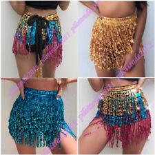 UK Belly Dancing Dancer Costume Sequin Hip Scarf Belt Wrap Skirt Costume Bra Top