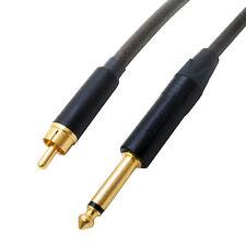 "A basso rumore Placcato Oro RCA a 1/4"" Mono Jack Audio Lead. Sommer XXL, Switchcraft"