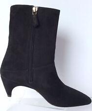 NEW PRADA Comma Black Mid Calf Boots - MSRP $890.00!