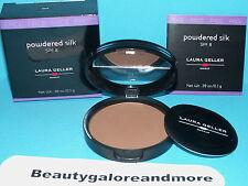 Nib Laura Geller Powdered Silk Spf 8 Dark Face Powder .39 Oz New