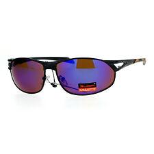 Xloop Mens Fashion Sunglasses Oval Metal Frame Camouflage Print UV 400