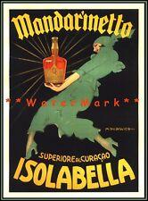 Mandarinetto Isolabella 1946 Curacao Liqueur Vintage Poster Print Retro Art