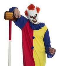 Adult Mens Killer Scary Evil Clown Purge IT Halloween Full Costume Mask Jumpsuit