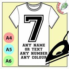 Nome adesivi murali o Number ferro sul trasferimento Adesivo T-shirt personalizzata di tessuti