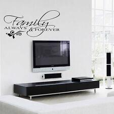 Famiglia Amore grande Vinile Arte Muro Adesivo, cito sempre & FOREVER-Camera da letto, Decalcomania